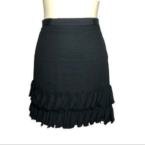 Banana Republic Black Silk Skirt Size 12